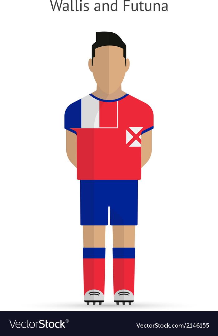 Wallis and futuna football player soccer uniform vector | Price: 1 Credit (USD $1)