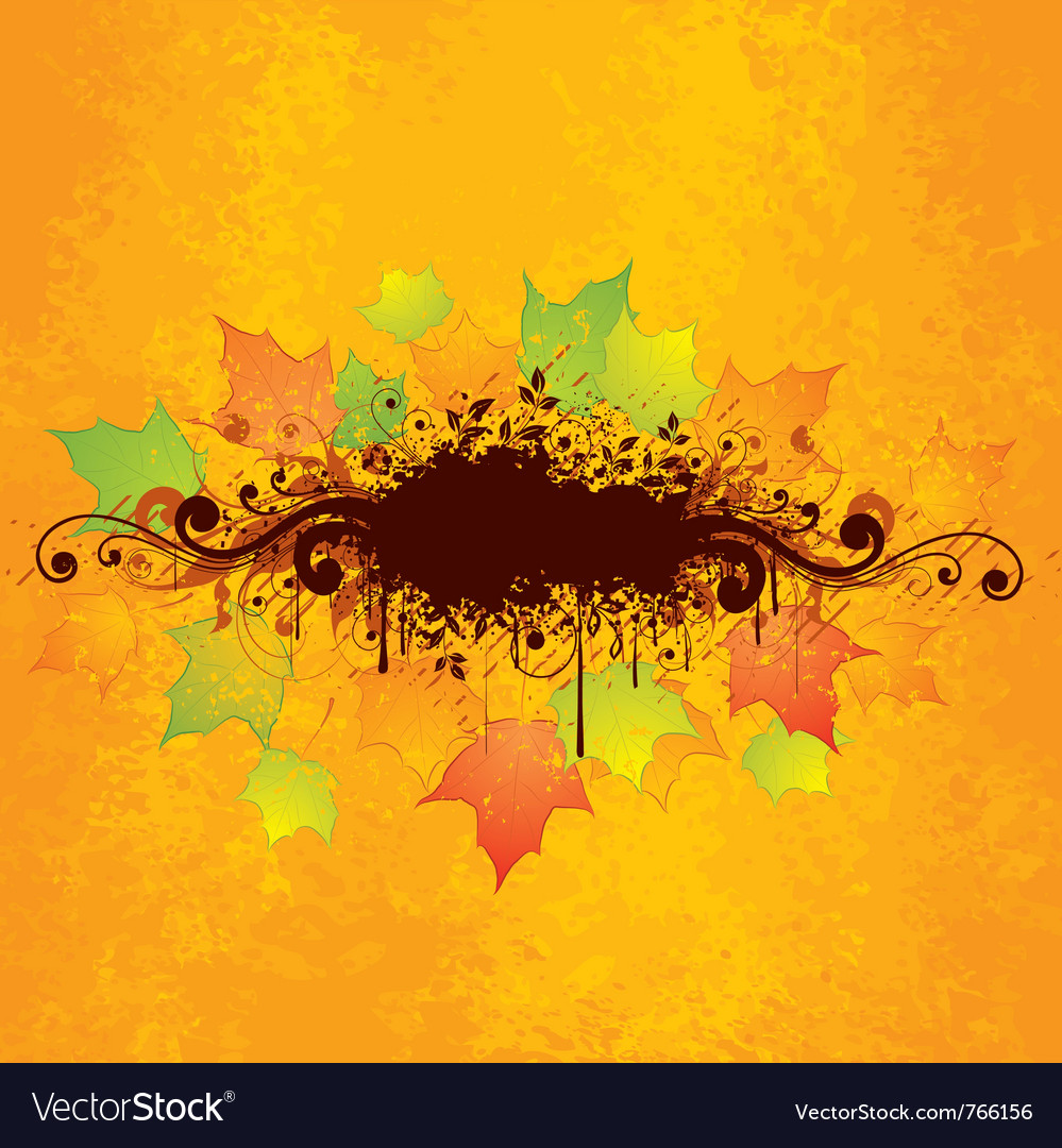 Abstract autumn graphic vector | Price: 1 Credit (USD $1)