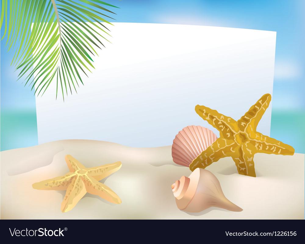 Beach blank paper vector | Price: 3 Credit (USD $3)
