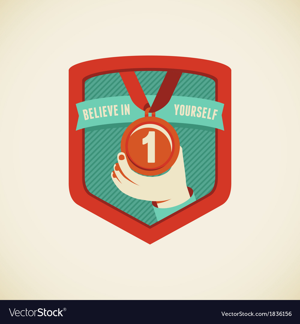 Believe in yourself vector | Price: 1 Credit (USD $1)