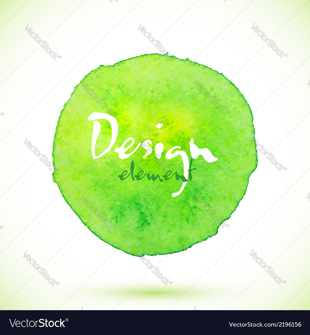 Green watercolor circle design element vector | Price: 1 Credit (USD $1)