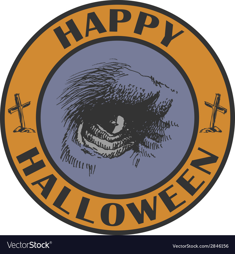 Hand drawn sign halloween eps8 vector | Price: 1 Credit (USD $1)