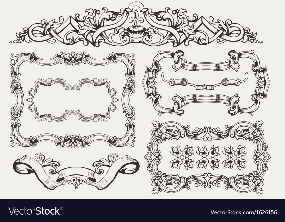 High ornate frames vector | Price: 1 Credit (USD $1)