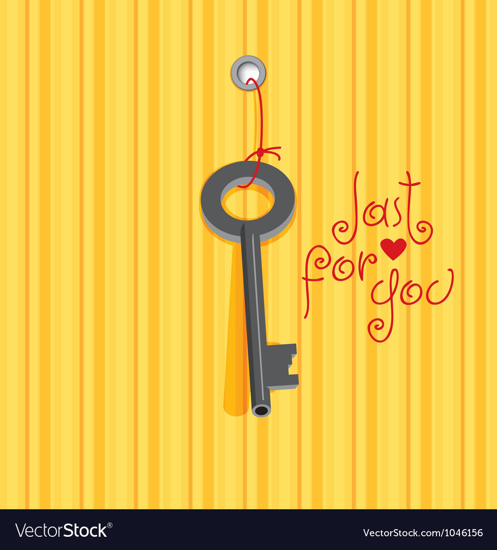 Key heart vector | Price: 3 Credit (USD $3)