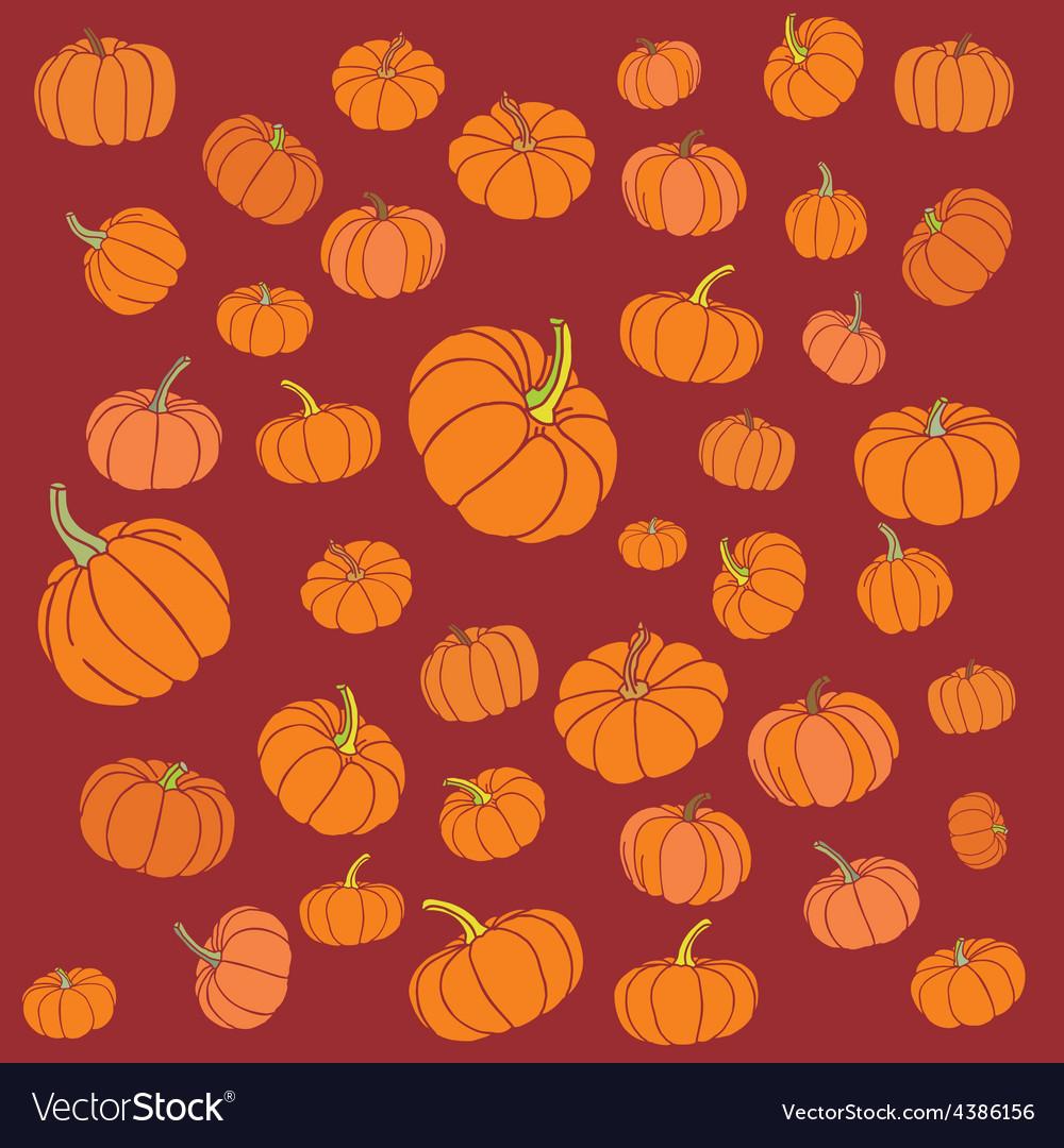 Pumpkin pattern vector | Price: 1 Credit (USD $1)