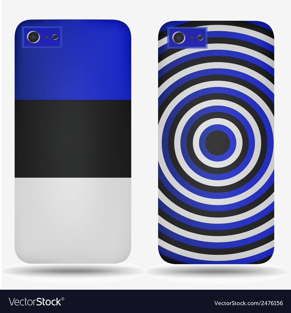 Rear covers smartphone with flags of estonia vector | Price: 1 Credit (USD $1)