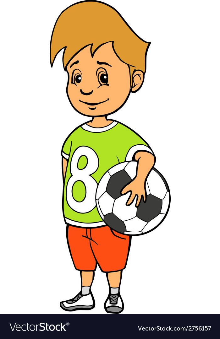 Boy with soccer ball vector | Price: 1 Credit (USD $1)