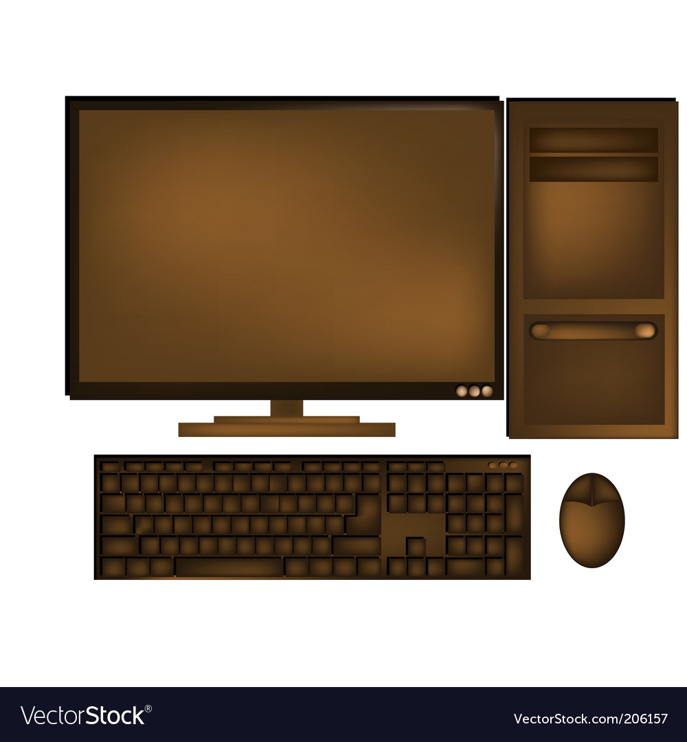 Chocolate computer vector | Price: 1 Credit (USD $1)
