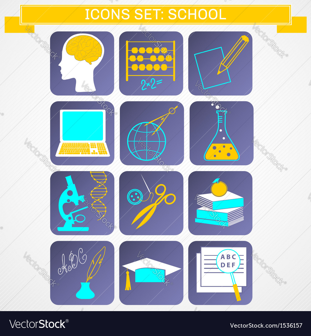 Education icons set infographics vector | Price: 1 Credit (USD $1)