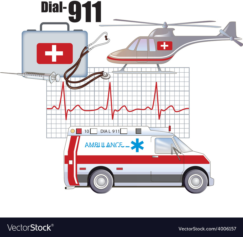 Emergency health services vector | Price: 3 Credit (USD $3)