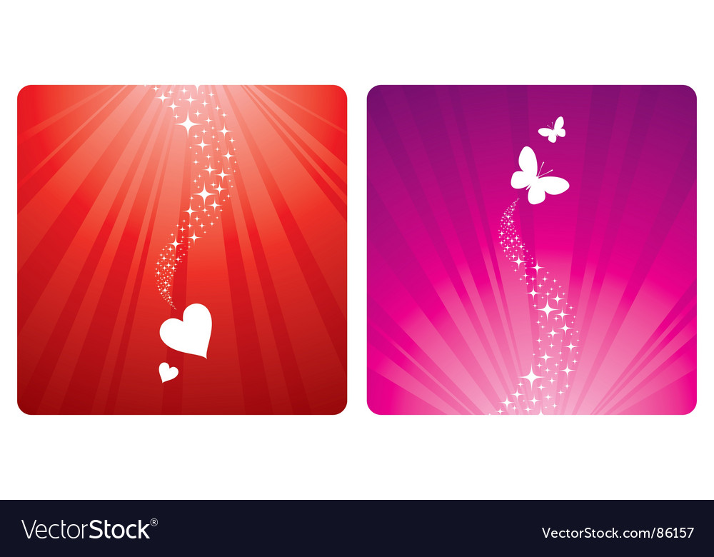 Hearts and butterflies vector | Price: 1 Credit (USD $1)