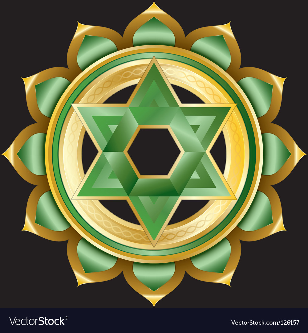 Hindu chakra anahata medallion vector | Price: 3 Credit (USD $3)