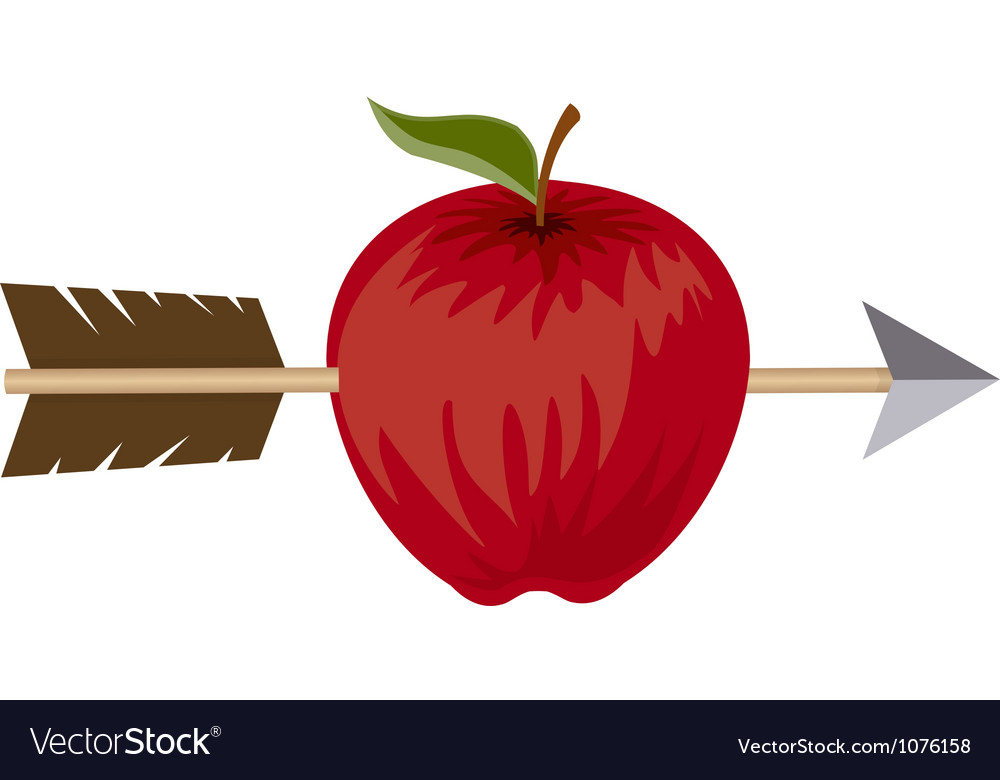 Apple and arrow target concept vector | Price: 1 Credit (USD $1)