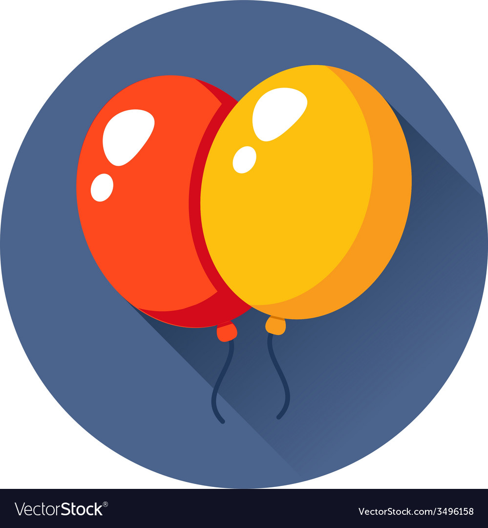 Celebration balloons icon vector | Price: 1 Credit (USD $1)