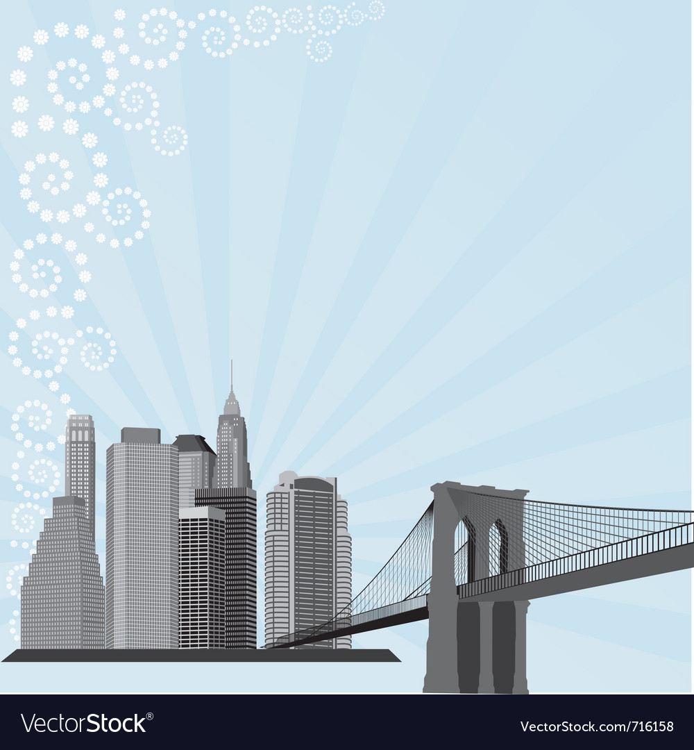 City building silhouette vector | Price: 1 Credit (USD $1)