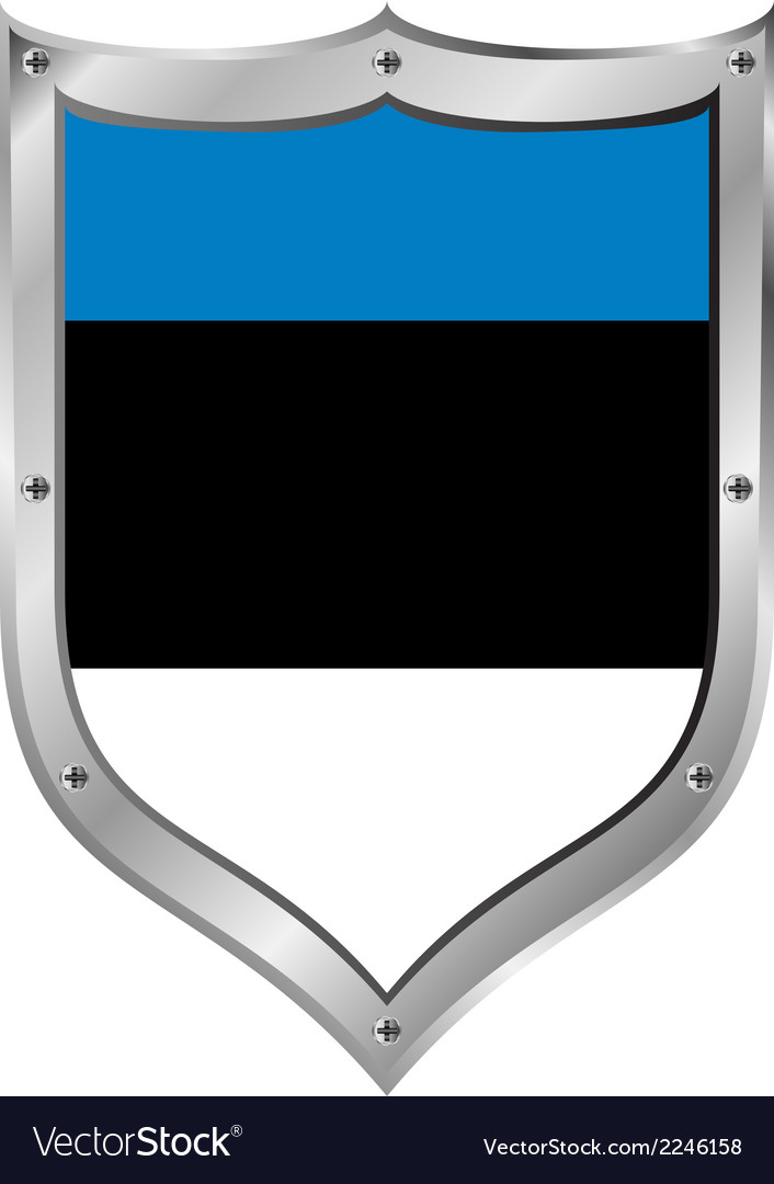 Estonia flag button vector | Price: 1 Credit (USD $1)