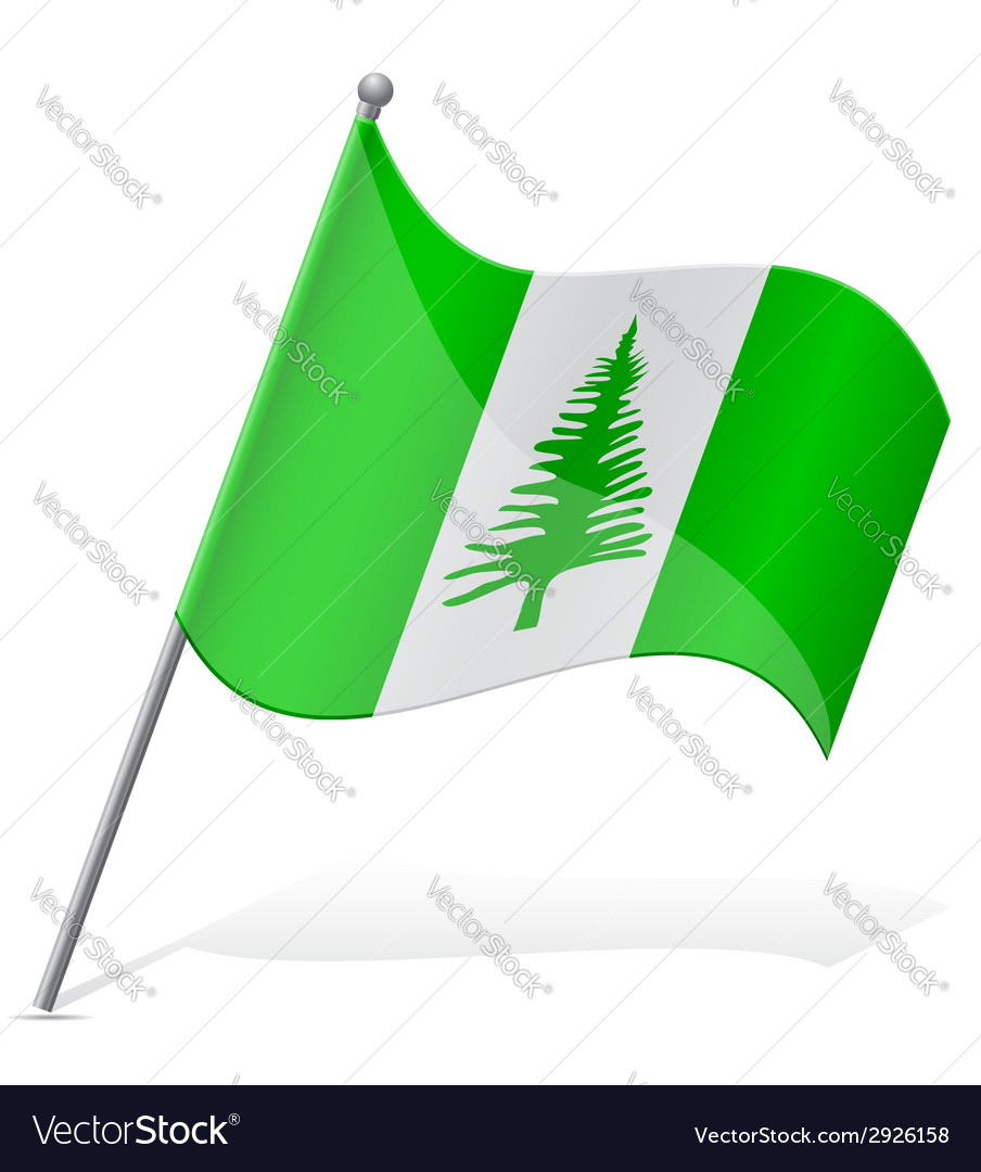 Flag of norfolk island vector | Price: 1 Credit (USD $1)