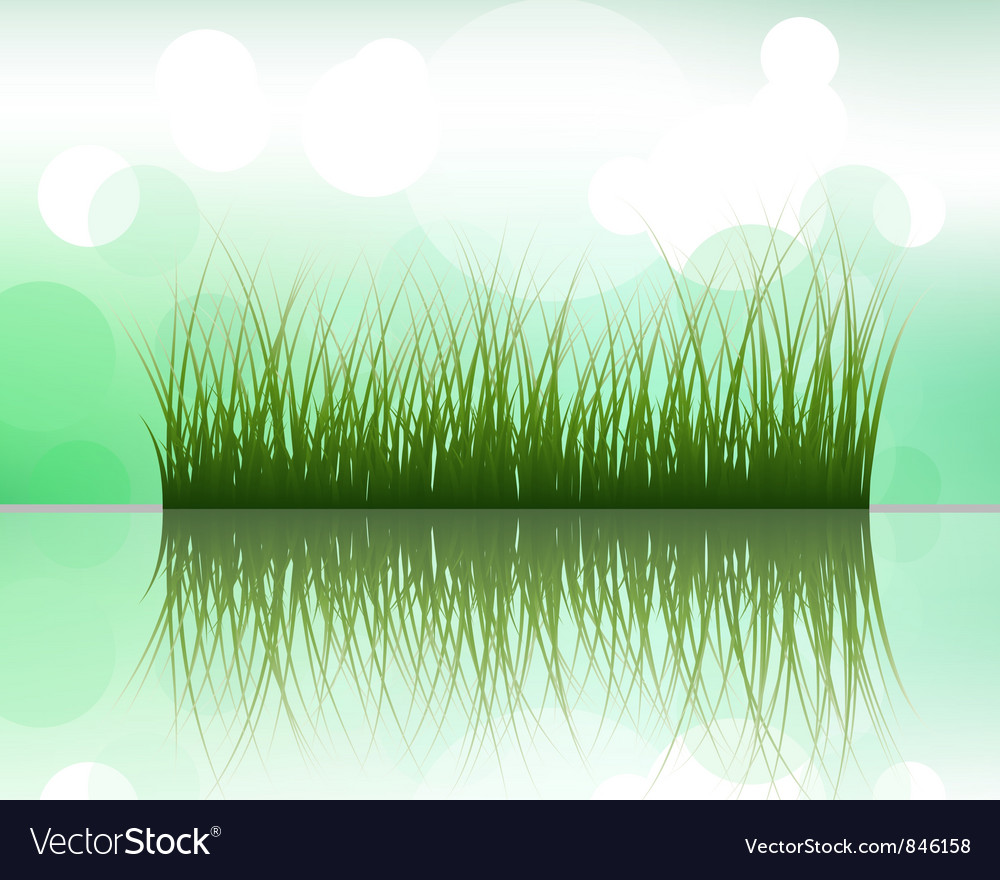 Grass silhouette background vector | Price: 1 Credit (USD $1)