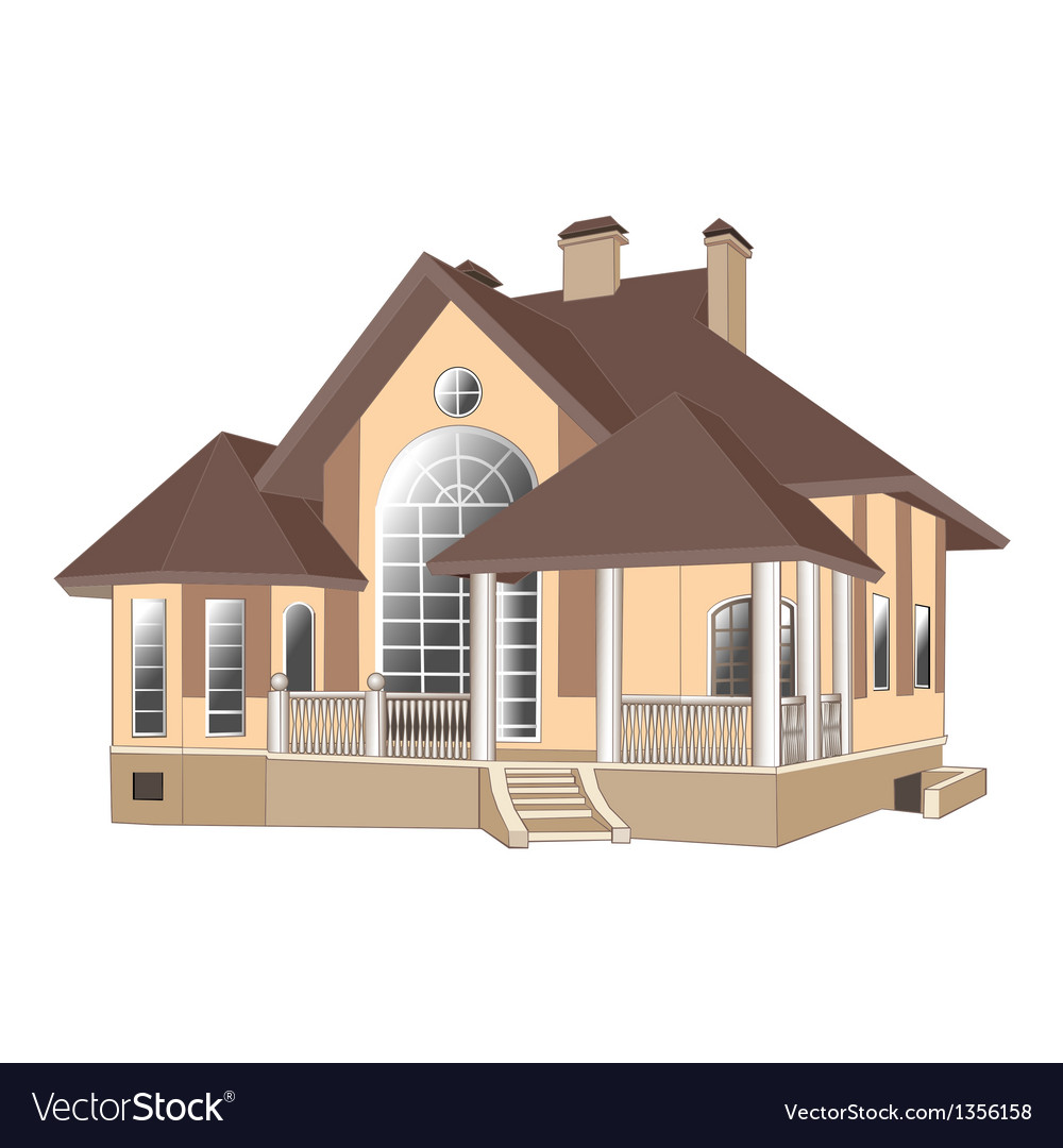 House cottage vector | Price: 1 Credit (USD $1)