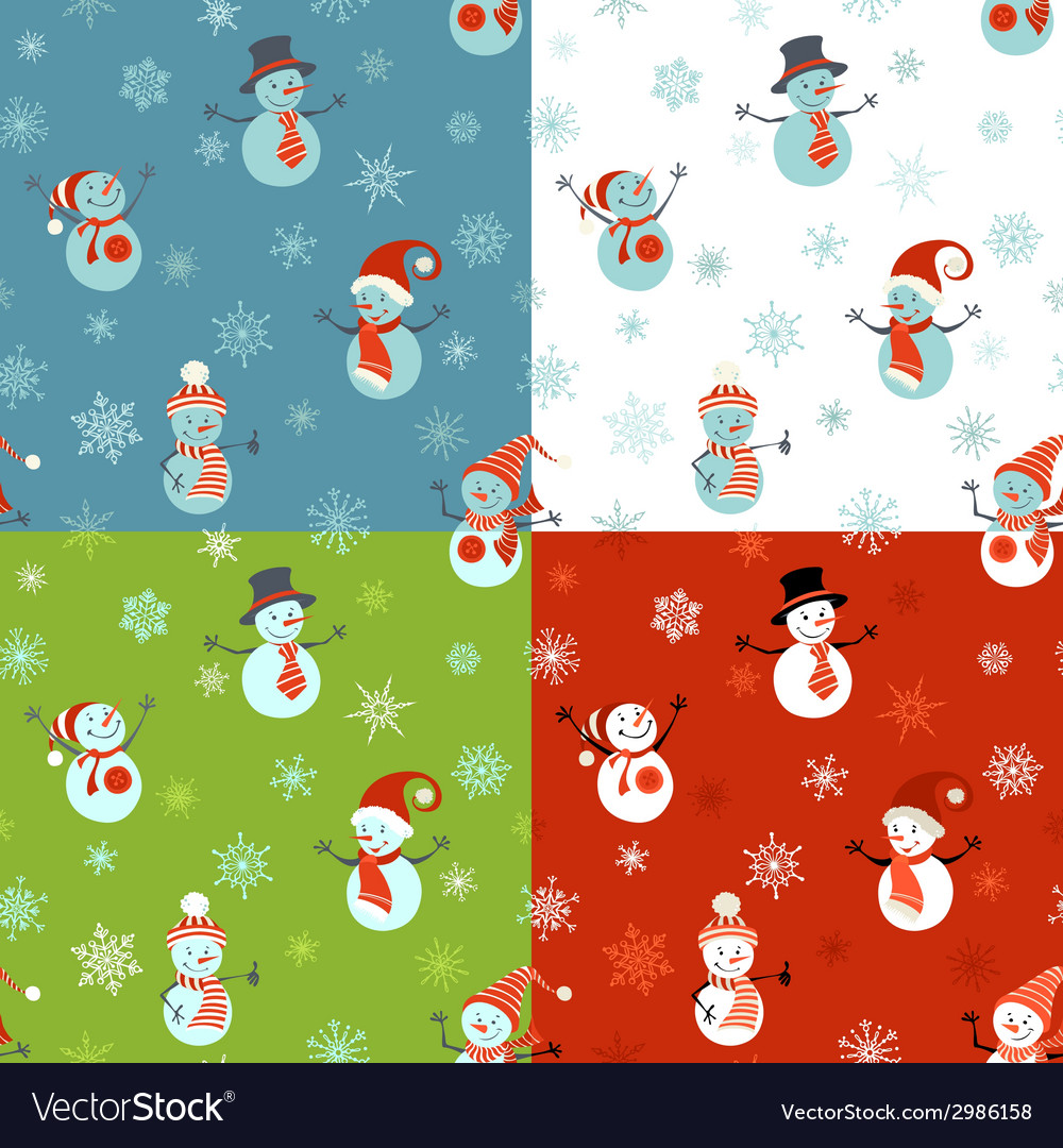 Set of seamless christmas patterns vector | Price: 1 Credit (USD $1)