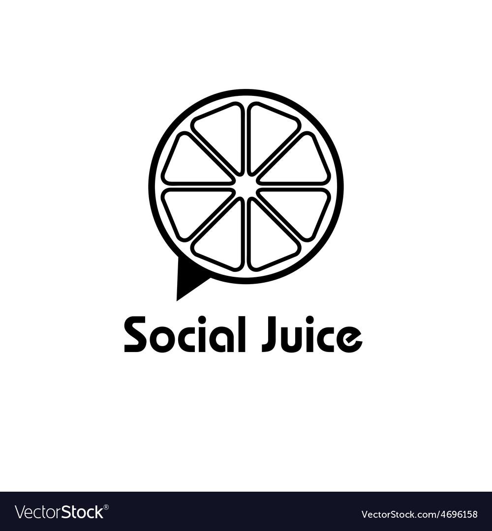 Social juice concept design template vector | Price: 1 Credit (USD $1)