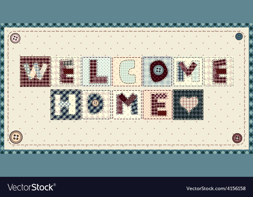 Welcome home vector | Price: 1 Credit (USD $1)