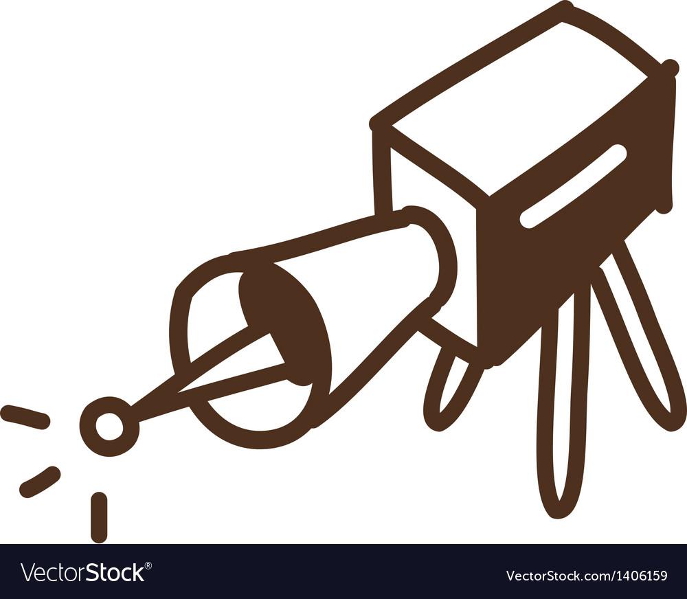 A projector vector | Price: 1 Credit (USD $1)