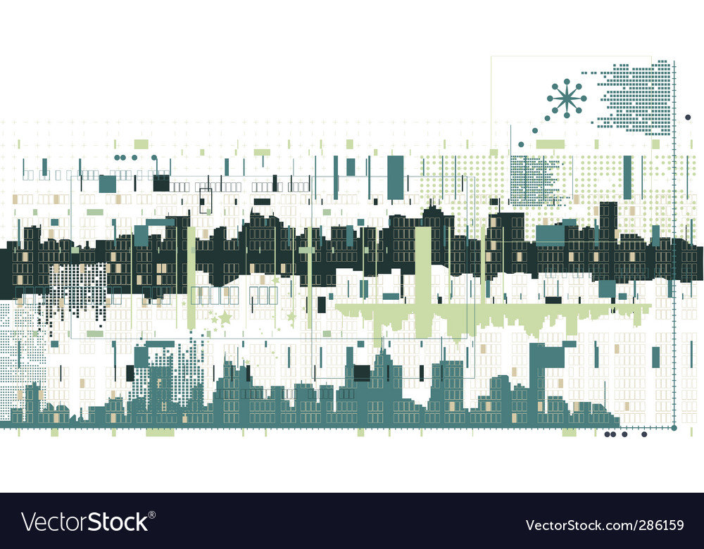 Abstract building background vector
