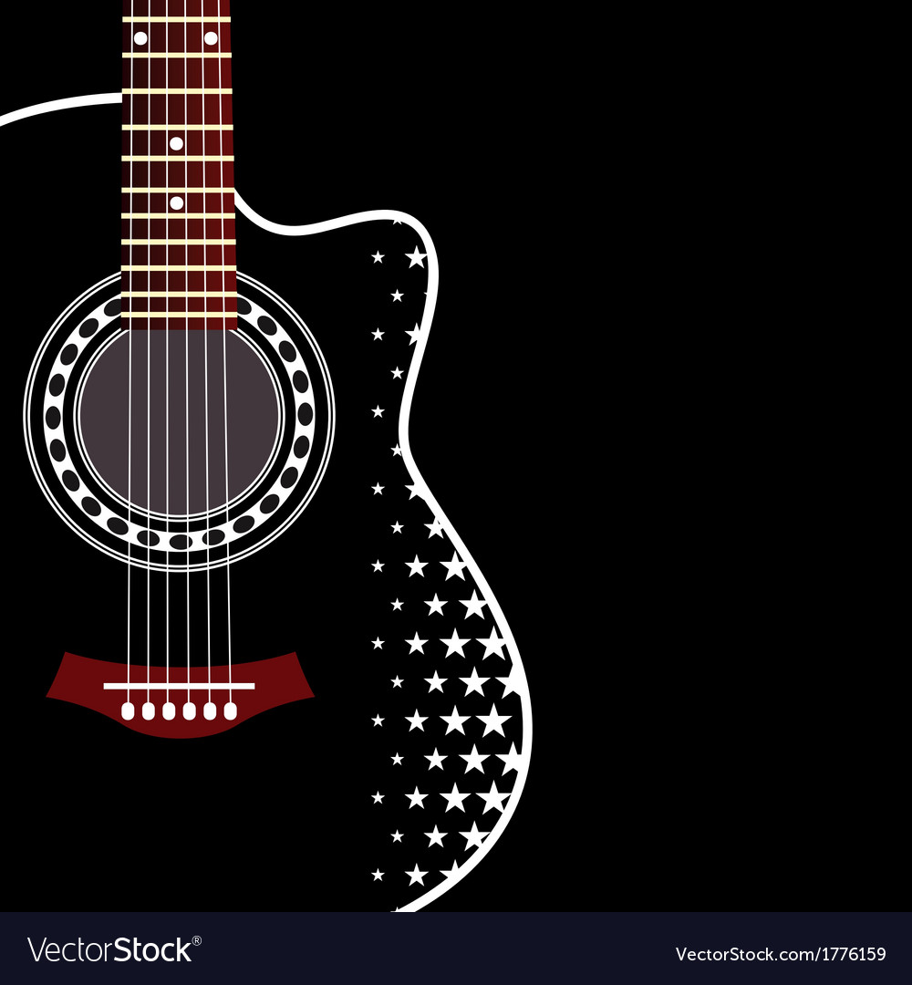 Background with acoustic guitar vector | Price: 1 Credit (USD $1)