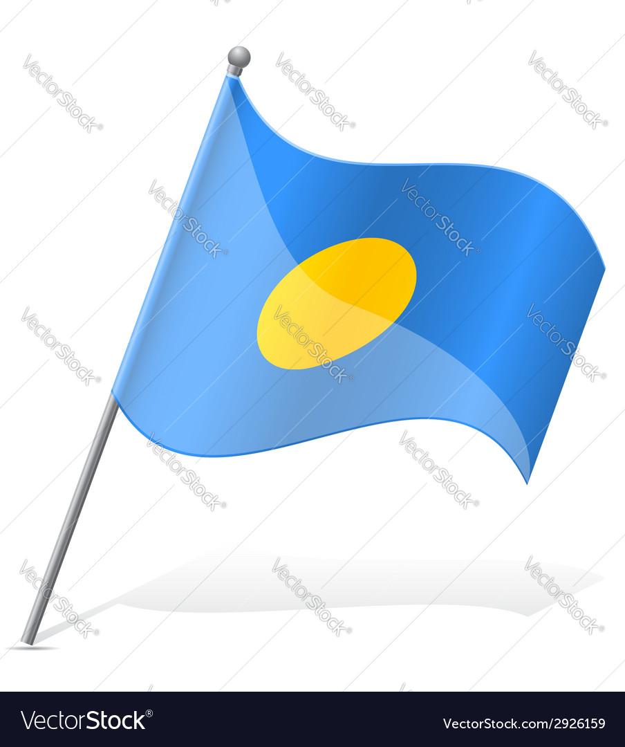 Flag of palauan vector | Price: 1 Credit (USD $1)