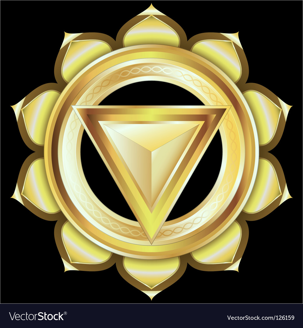 Hindu chakra manipura medallion vector | Price: 3 Credit (USD $3)