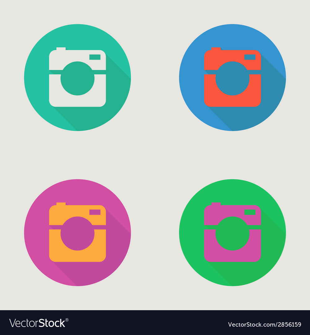 Hipster photo or video camera icon minimalism vector | Price: 1 Credit (USD $1)