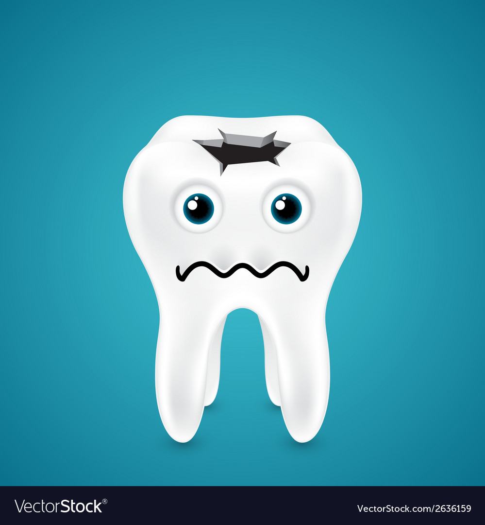 Live tooth with a hole going through vector | Price: 1 Credit (USD $1)