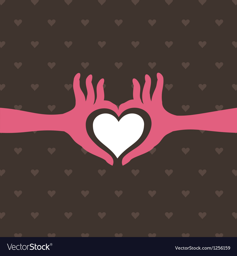Love a hand vector | Price: 1 Credit (USD $1)
