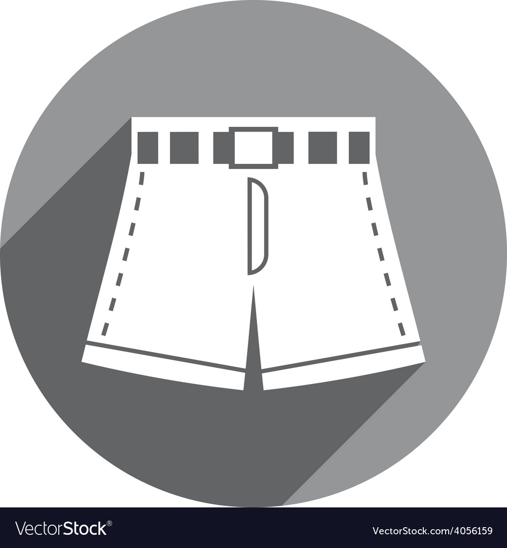 Shorts icon isolated vector | Price: 1 Credit (USD $1)