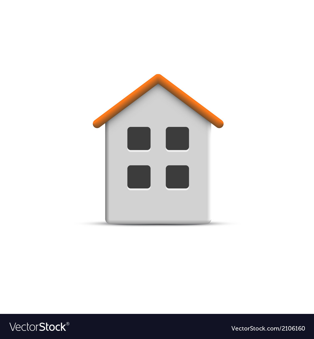 3d home icon vector | Price: 1 Credit (USD $1)