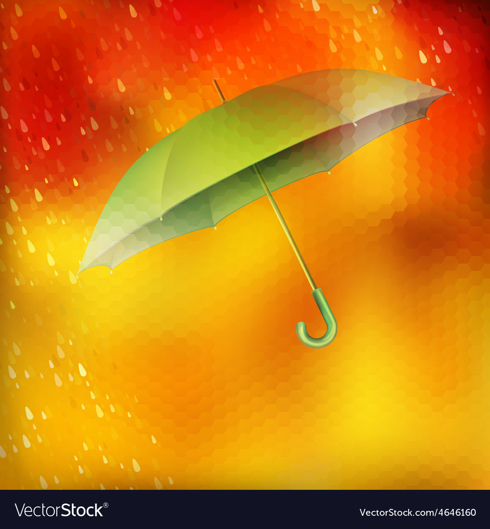 Abstract umbrella and raindrops eps 10 vector | Price: 1 Credit (USD $1)
