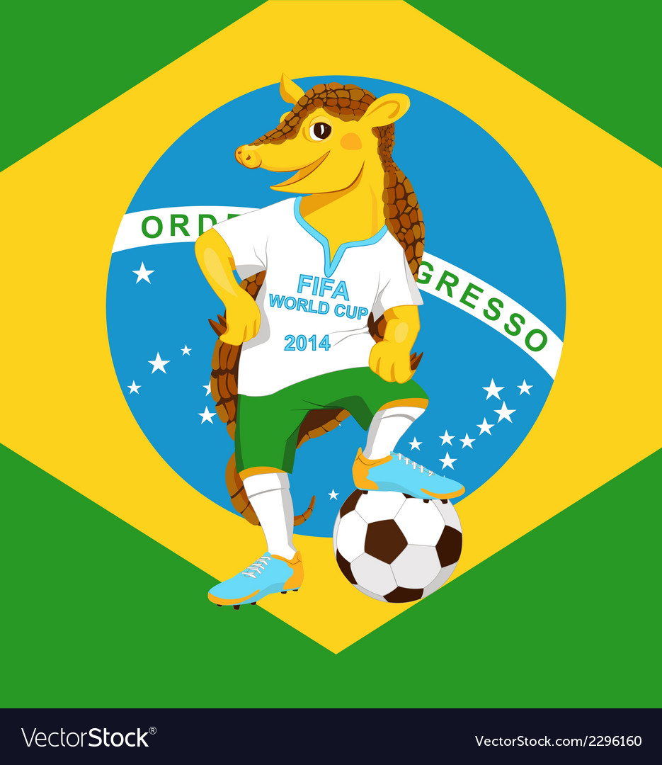 Armadillo fifa world cup mascot vector | Price: 1 Credit (USD $1)