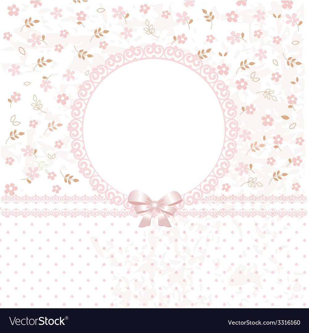 Baby pink flower background vector | Price: 1 Credit (USD $1)