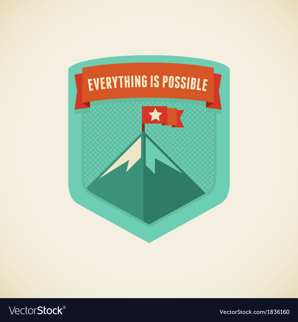 Everythingispossible vector | Price: 1 Credit (USD $1)