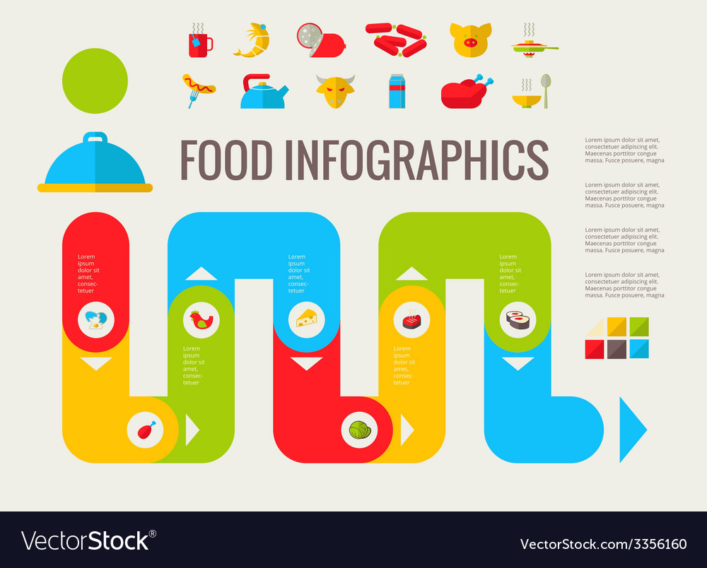 Food infographic elements vector   Price: 1 Credit (USD $1)