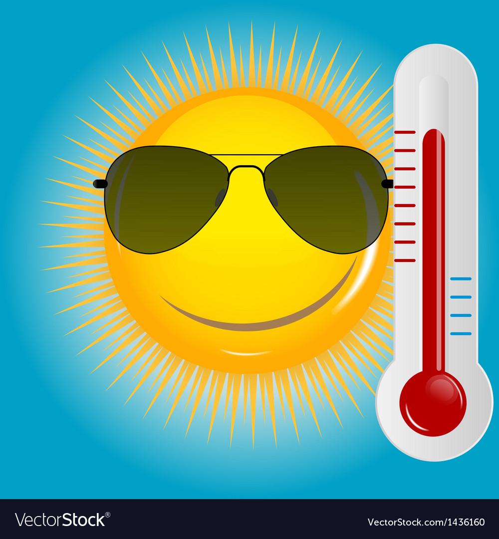 Happy sun background vector | Price: 1 Credit (USD $1)