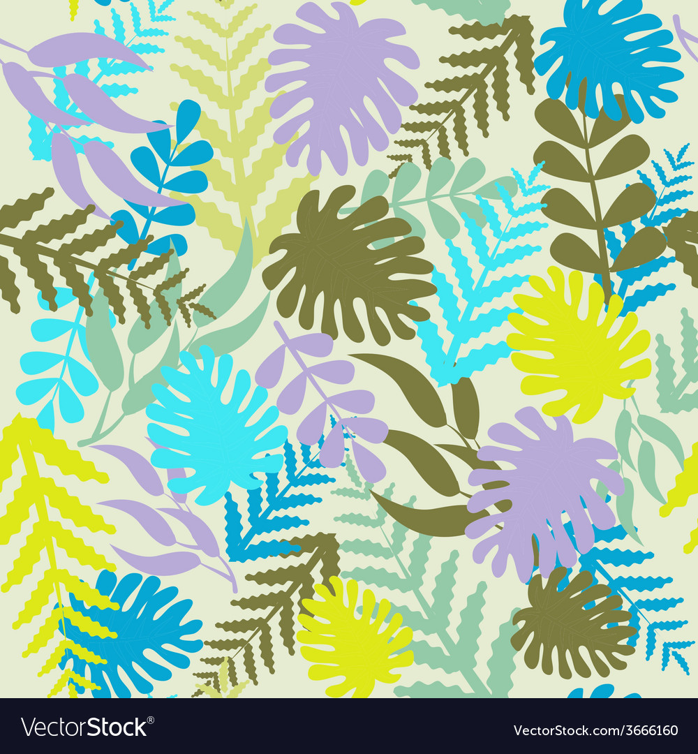 Leaves pattern tropical pattern with monstera vector | Price: 1 Credit (USD $1)