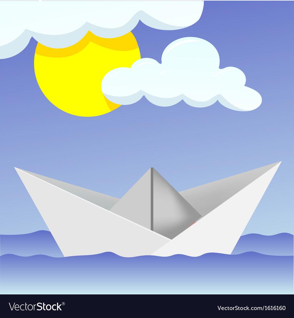 Paper boat vector   Price: 1 Credit (USD $1)