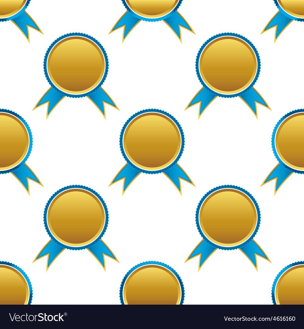 Ribbon award pattern vector | Price: 1 Credit (USD $1)