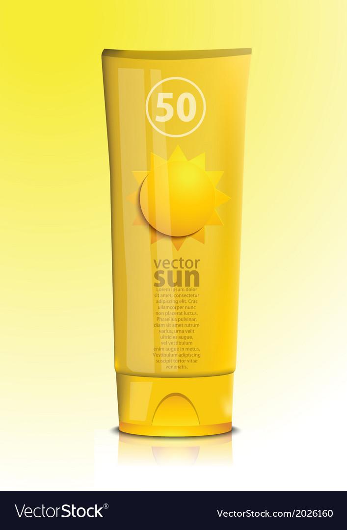 Sunscreen vector | Price: 1 Credit (USD $1)