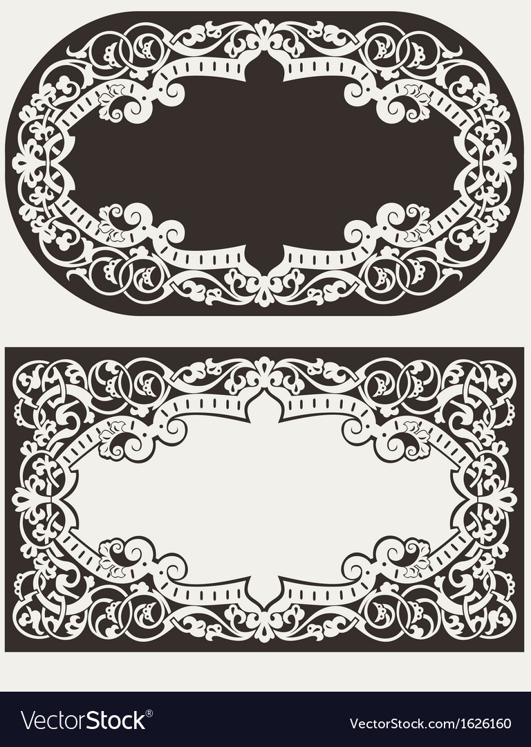 Two ornate frames backgrounds vector | Price: 1 Credit (USD $1)