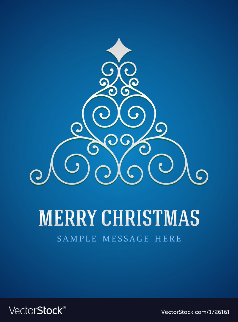Christmas tree from flourishes calligraphic vector   Price: 1 Credit (USD $1)