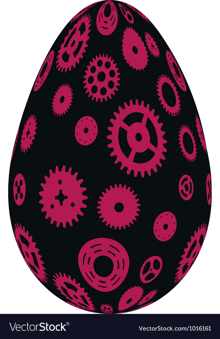 Easter eggs happy easter vector   Price: 1 Credit (USD $1)