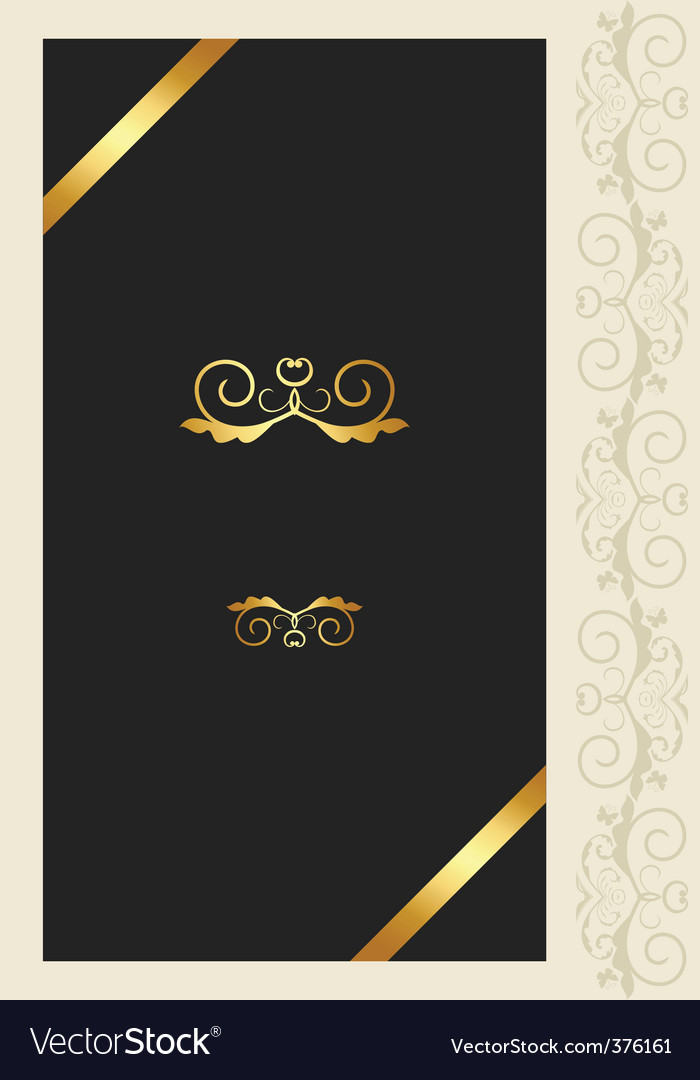 Greeting ornament card vector | Price: 1 Credit (USD $1)